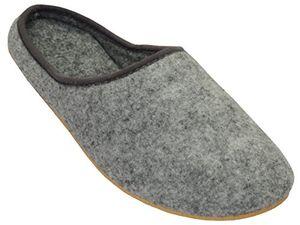 deals for - filzpantoffeln hausschuhe aus filz mit gummisohle filzlatschen unisex damen herren grau fd01 45