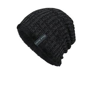 uface unisex warm stricken gefütterte beanie wintermütze sportlich elegantes flechtmuster mit weichem fleece futter mütze schwarz wm053 unisex