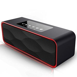 Buy bluetooth lautsprecher xplus portable reise wireless stereo starke enhanced bass bluetooth lautsprecher fm radio mp3 player 10 stunden play 2200mah akku