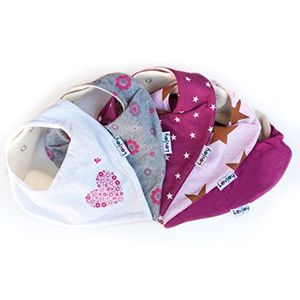 Lovjoy Baberos del bebé - Paquete de 5 Diseños para niña (Bonitos Rosas) Mejor oferta