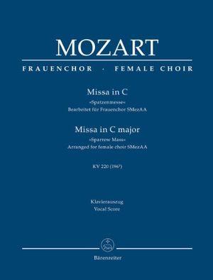 Hot missa in c »spatzenmesse« kv 220 196b bearbeitet für frauenchor smaa klavierauszug