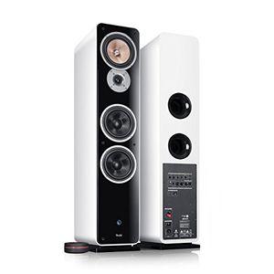 teufel ultima 40 aktiv weiß stand lautsprecher sound bassreflex 3 wege flac hifi hochtöner lautsprecher high end hifi speaker high end lautsprecher
