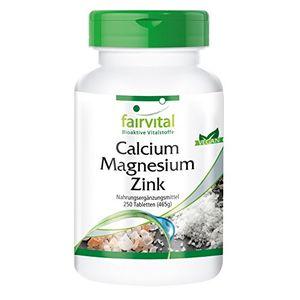 Reseña fairvital - 250 pastillas de calcio, magnesio y cinc - Quelato - Biodisponible Mejor oferta