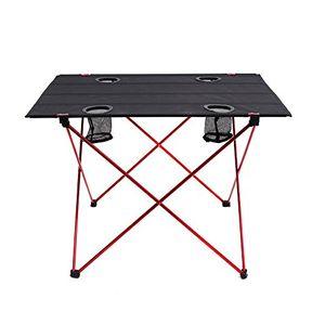 Angebote für -outry leichtgewichts klapptisch mit becherhalter tragbar camp tisch tragbare klapptisch l entfaltet 75 x 56 x 53cm