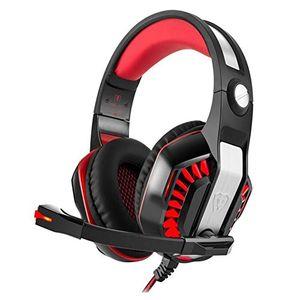 Angebote für -beexcellent gaming headset mit mikrofon für ps4xbox onepclaptophandypc mit einem freien y splitter rot rot