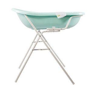 Bañera de bebé XXL, color agua marina + soporte de bañera + manopla de baño Mejor oferta