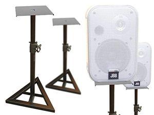 Cheap 2 stück boxenständer aus metall lautsprecherständer satelliten boxen lautsprecher höhenverstellbar kabelkanal ständer modell bs12x2