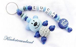 Review for namensanhänger anhänger mit namen baby kinder stern schlüsselanhänger wickeltasche kindergartentasche schulranzen royalblau hellblau teddy