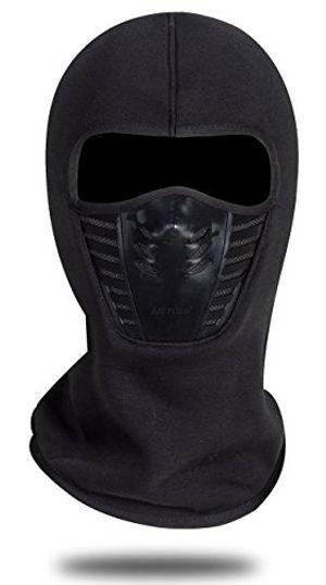 deals for - winddichte vollgesichtsmaske aus fleeceeinheitsgrößeunisexwinterliche outdooraktivitäten schwarz