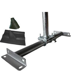 Angebote für -dachsparrenhalter set rs 18 mit 100 cm mast verzinkt aufsparrenhalter mit dachabdeckung und gummimanschette schwarz neu
