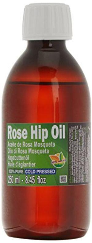 Aceite Rosa Mosqueta 100% Puro 250ml (un cuarto litro) Origen Chile - Primera prensada en frió, extra virgen -Color naranja brillante- Primera Calidad Mundial guía del comprador