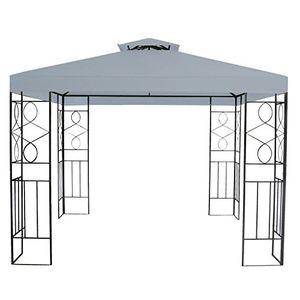 photos of Terena® Metall Gartenpavillon 3x3 M Gazebo Mit Entlüftungsfunktion   Garten Pavillon Zelt (anthrazit) Hot Deals Kaufen   model Lawn & Patio