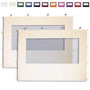 Angebote für -2 seitenteile mit panoramafenstern in creme für 3x3m falt pavillon faltpavillon von profizelt24