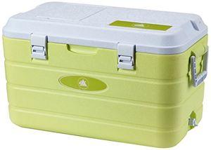 Review for 10t fridgo 40l passive kühlbox kühlbehälter 63x35x35cm pu thermobox mit sicherheits verschluß tragegriffen boden abfluss schnell zugriff warmkalt isolierbox inkl kühlakku