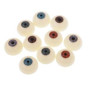 magideal 5 paar 30mm halbrunde puppen augäpfel kunststoffaugen sicherheitsaugen für tiere puppe halloween maske diy handwerk