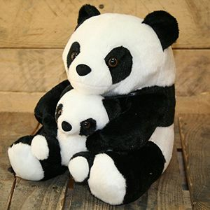 Hot adorable black and white panda doorstop with baby decorative panda door stop by carousel home