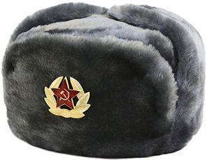 Cheap cucuba® russische fellmütze schapka uschanka wintermütze militärmütze der sowietischen armee grössen verfügbar 56 57 58 59 60 eu geschenkidee 56 size m eu