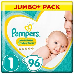 Buy Pampers New Baby – Pañales, talla 1, 2 a 5 kg, pack de 96 comparación