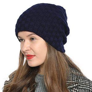 Angebote für -dondon damen beanie mütze wintermütze slouch style mit sehr weichem und angenehm zu tragendem innenfutter dunkelblau navy