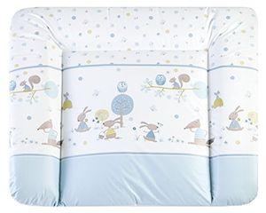 Calientes Julius Zöllner 2220142710 Softy, cambiador de bebé (75 x 85 cm) Happy Animals blau Talla:75x85 cm Mejor compra
