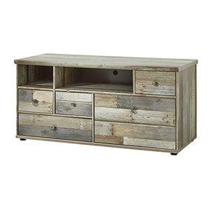 Angebote für -stella trading bzddd01032 fernsehschrank driftwood fernsehtisch longboard holz braun 130 x 62 x 52 cm