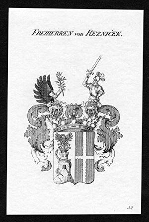 deals for - freiherren von reznicek reznicek wappen adel coat of arms heraldry heraldik kupferstich