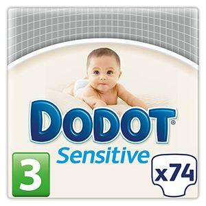 Inicio Dodot Sensitive - Pañales para bebés, talla 3 (5 - 10 kg), 2 packs de 74, 148 pañales antes de compra
