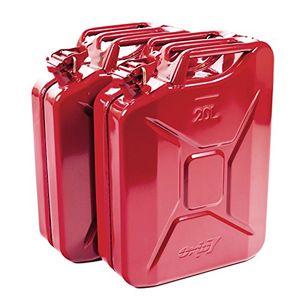 Angebote für -2x oxid7® benzinkanister kraftstoffkanister metall 20 liter rot mit un zulassung tüv rheinland zertifiziert bauart geprüft für benzin und diesel