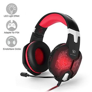 Angebote für -pcps4 gaming headset marsboy gaming kopfhörer mit mikrofon led effekt für ps4 pc film gaming spielen chat musik best weihnachtsgeschenk rot