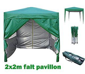 photos of 2x2m Pavillon, Gartenpavillon, Falt Pavillon, Festzelt, Partyzelt, Komplettset, MCC, GRUEN Vergleich Kaufen   model Lawn & Patio