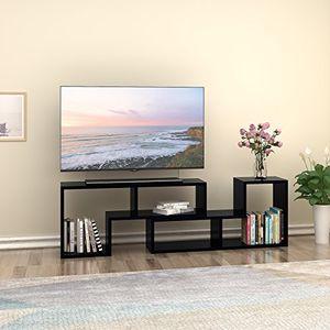 photos of DEVAISE Multifunctional Hölzernen TV Lowboard / Bücherregal / TV Schrank; 24mm Dicke, Schwarz Mit Kostenlosem Versand Kaufen   model CE