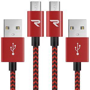deals for - micro usb kabel 1m 2 pack rampow® 3a micro usb schnellladekabel nylon geflochtenes samsung ladekabel ladekabel samsung lebenslange garantie high speed sync und ladekabel rot
