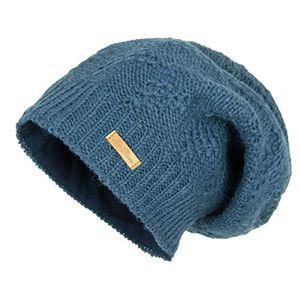 Angebote für -mcron wollmütze lina staubblau für damen mütze beanie slouch strickmütze wintermütze warm gefüttert