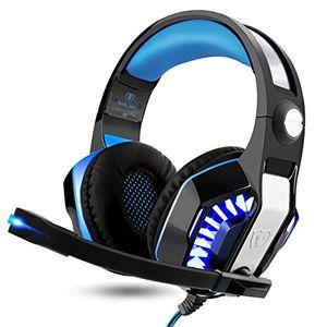 Buy arino gm 2 gaming headset over ear kopfhörer mit led licht und mikrofon für ps4 pc xbox one handy spiele klangvolle bässe schwarz blau