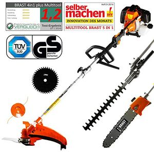 photos of BRAST Benzin Multitool 3.0 PS 5 In1 Motorsense Heckenschere Hochentaster Rasentrimmer Astsäge Freischneider 52cm³ TÜV Geprüft Heute Deals Kaufen   model Home Improvement