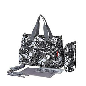 ofertas para - bolsas impermeables de momia del bebé del panal bolso de viaje cambio blanco y negro 37x16x30cm