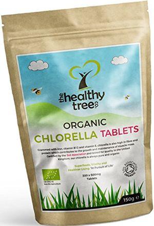 Barato Tabletas de Chlorella Orgánica - Altas en clorofila, proteínas, hierro y aminoácidos - Chlorella comprimidos de pared celular rota de TheHealthyTree Company, certificadas por el Reino Unido ofertas especiales