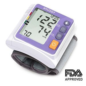 ofertas para - hylogy tensiómetro de muñeca presión arterial alta precisión monitor y deteccion arritmias pantalla grande lcd y 2 120 memorias