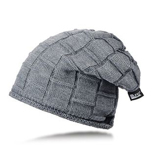 miuno® teddyfutter beanie wintermütze strickmütze mb1604 grau