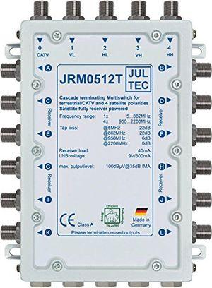 jultec jrm0512t multischalter 12 teilnehmer receivergespeist ohne strom stromanschluss