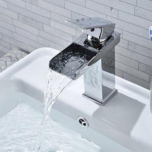 deals for - cozime waschbeckenarmatur waschbecken wasserhahn chrom wasserfall wasserhahn für küche und badezimmer