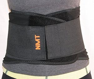 NMT Back Brace ~ Concentrated Lumbar Support Belt ~ Core Pain, Arthritis ~ Premium Posture Corrector ~ Natural Physical Therapy ~ For Men, Women ~ 4 Adjustable Sizes