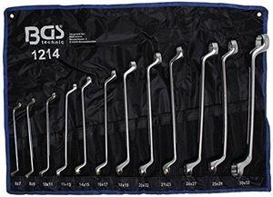 Hot bgs 1214 doppelringschlüssel satz 6 x 7 30 x 32 mm 12 teilig