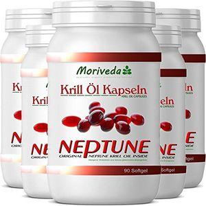Buy El aceite de krill 450 cápsulas con prima de Aceite de Krill Neptune. Omega 3,6,9 y valores máximos astaxantina (5x90) Mejor compra