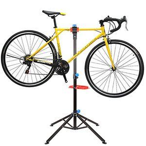 deals for - femor fahrradmontageständer mit werkzeugablage fahrrad reparaturständer höhenverstellbar klappbar vierbeiniger werkzeugständer für fahrradreparatur belastbar bis 50kg