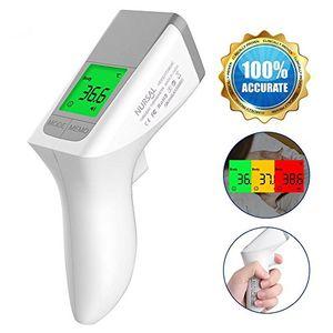 Inicio Termómetro médico sin contacto para la frente de modo dual Lectura inmediata y exacta de tecnología de detección arterial con alertas coloridas y retroiluminadas para seguimiento de la fiebre Almacenamiento de 50 lecturas guía del comprador