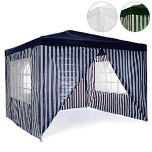 Angebote für -pavillon partyzelt 3x3m blau weiß wasserdicht 4 seitenteile gartenzelt eventzelt marktzelt festzelt für garten terrasse feier markt als unterstand eventzelt
