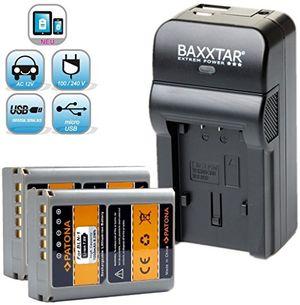 Angebote für -baxxtar razer 600 ii ladegerät 5 in 1 2x patona qualitätsakku für olympus bln 1 ps bln1 passend zu olympus om d e m1 e m5 und om d e m5 mark ii