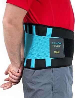 Top Faja Lumbar para la Espalda - El Unico Cinturón Lumbar Certificado por Médicos en el Reino Unido para Aliviar el Dolor y Prevenir Daños | Doble Ajuste Para una Adaptación Perfecta | Para Hombre y Mujer | ActiveBak de Clever Yellow | 4 Tallas ofertas especiales