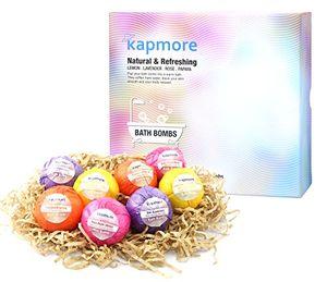 Calientes Bombas de baño,Kapmore 8 PCS Bolas de baño Set de Regalo con Bolas de baño Conjunto de Aceites Biológicos Estéticas, Aromaterapia, Relajación, Cuidado Bombas de baño Hechos a mano día Ventajas Desventajas Padres